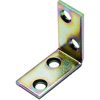 Wickes 30mm Galvanised Angle Bracket Pack 4