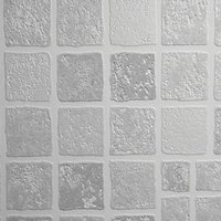 Contour Earthen Decorative Wallpaper Mid Grey