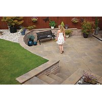 Marshalls Heritage Riven Calder Brown 600x600x38 Paving Slab Pack of 22