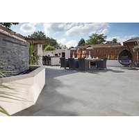 Marshalls Symphony Smooth Grey 595x595x20 Paving Slab Pack of 64