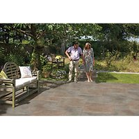 Marshalls Symphony Smooth Copper 595x595x20 Paving Slab Pack of 64