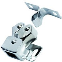 Wickes Double Roller Catch Chrome Plated