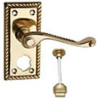 Wickes Cheshire Georgian Scroll Privacy Handle Polished Brass