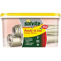 solvite all purpose ready mixed wallpaper adhesive 5 roll
