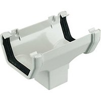 Wickes White Squareline Gutter Running Outlet