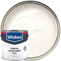 Wickes Quick Dry Gloss Paint Gloss Brilliant White 2.5L