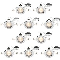 Wickes LED Downlights Chrome Finish 10 Pack