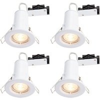 Wickes LED Fire Rated Downlights White 4 Pack