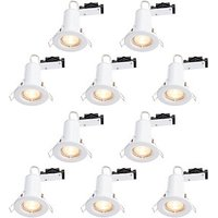 Wickes LED Fire Rated Downlights White 10 Pack