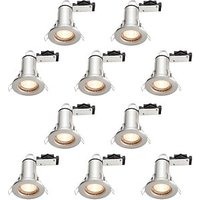 Wickes LED Fire Rated Downlights Brushed Chrome Finish 10 Pack