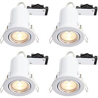 Wickes LED Fire Rated Tilt Downlights White 4 Pack