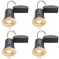 Wickes LED Premium Fire Rated Downlights Brass 4 Pack
