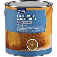 Wickes Woodstain Dark Oak 2.5L