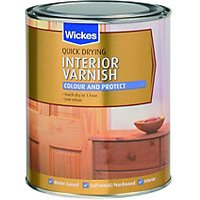 Wickes Quick Drying Interior Varnish Mellow Pine Satin 750ml