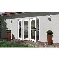 Wickes Lyndon Finished Folding Patio Door White 7ft Wide Reversible