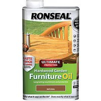 Ronseal Hardwood Furniture Oil Natural Clear 500ml