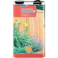 Wickes High Performance Wood Preserver 5L Golden Oak