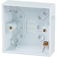 Wickes Pattress Box 1 Gang 25mm