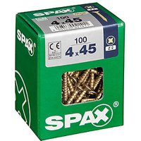 Spax Universal Zinc Yellow Screws 4.0 x 45mm Pack 100