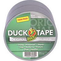 Duck Tape Twin Pack Silver