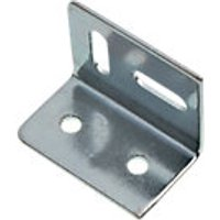 Wickes Stretcher Plate Zinc Plated 38x28mm Pack 20