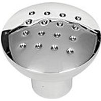 Wickes Dimple Knobs Polished Chrome Finish 32mm 6 Pack