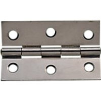 Wickes Butt Hinge Chrome Plated Steel 76mm 2 Pack