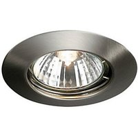 Wickes Halogen Fixed Downlight Brushed Chrome 4 Pack