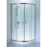 Wickes Quadrant Shower Enclosure Silver Effect Frame Box 1 of 2 900mm