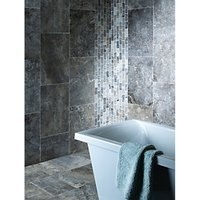 Wickes Silver Grey Honed & Filled Travertine Wall & Floor Tile 610 x 406mm