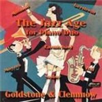 Goldstone & Clemmow - Jazz Age, The (For Piano Duo) (Music CD)