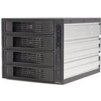 StarTech 4 Drive 3.5in Trayless Hot Swap SATA Mobile Rack Backplane Storage drive cage (Black)