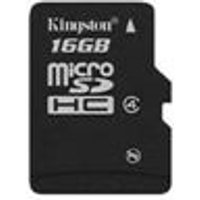 Kingston 16GB MicroSDHC Class 4 Memory Card with SD Adapter