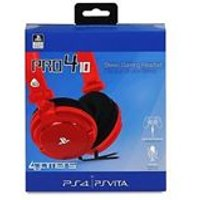 PRO4-10 Stereo Gaming Headset - Red (PS4/Playstation Vita)