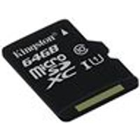 Kingston 64 GB Micro SD SDXC Card Class 10 UHS-I (Card Only)