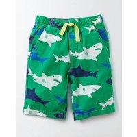 Printed Board Shorts Green Shark Print Boys Boden, Green