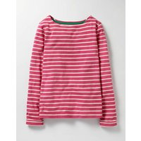 Breton T-shirt Honeysuckle Pink/Ecru Girls Boden, Honeysuckle Pink/Ecru