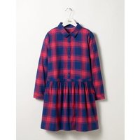 Shirt Dress Blue/Pink Check Girls Boden, Blue/Pink Check