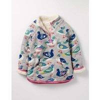 Reversible Teddy Half-zip Grey Marl Rainbow Ducks Girls Boden, Multi