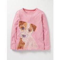 Superstitch Pet T-shirt Provence Dusty Pink Dog Girls Boden, Provence Dusty Pink Dog