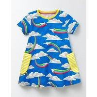 Summer Tunic Skipper Rainbow Jets Girls Boden, Blue