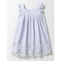 Broderie Detail Dress Light Chambray Girls Boden, Denim