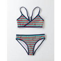 Fun Bikini Set Patina/Shocking Red Stripe Girls Boden, Green