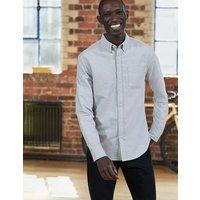 Slim Fit Marl Shirt Grey Marl Mini Spot Men Boden, Grey Marl Mini Spot