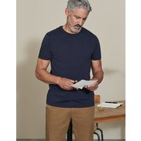 Washed T-Shirt Navy Men Boden, Navy