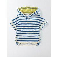 Stripy Towelling Throw-on Ivory/Skipper Stripe Baby Boden, Ivory/Skipper Stripe