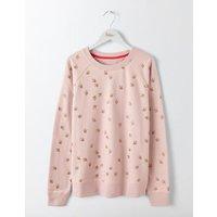 Make A Statement Sweatshirt Pink Pearl Glitter Swallow Women Boden, Pink Pearl Glitter Swallow