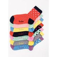 7 Pack Socks Spot Women Boden, Spot