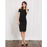 Off Shoulder Ruched Dress Black Women Boden, Black