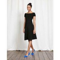 Hazel Ponte Dress Black Women Boden, Black